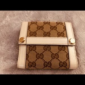 Gg pattern double sided wallet